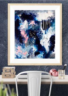 """Dance In The Rain"" Abstract Art Print -"