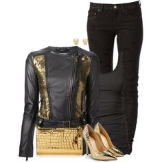 A fashion look from December 2014 featuring James Perse tops, Pinko jackets and Yves Saint Laurent jeans. Browse and shop related looks.