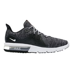 free shipping 12740 7f82d Nike Men s Air Max Sequent 3 Running Shoes - Black White Grey   Sport