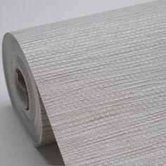 Faux Woven Textured Natural Grasscloth Wallpaper Cream Grey Silver String Linen Vinyl Wallpaper Designer Grass Cloth Wallpaper