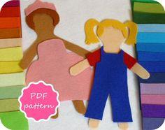 Matilda Felt Paper Doll Pdf Pattern for Flannel Board - Instant Download