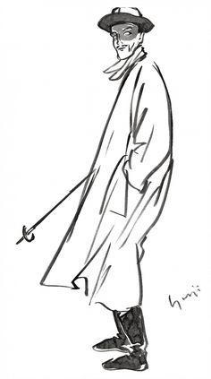 Yohji Yamamoto, Sketch for the Fall/Winter 1990 Collection