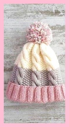 Free Beanie Models For Beginners Perfect Ideas! - Page 19 of 45 - Crochet and Knitting Patterns Free Beanie Models For Beginners Perfect Ideas! - Page 19 of 45 - Crochet and Knitting Patterns Kids Crochet Hats Free Pattern, Knitted Hats Kids, Crochet Mittens, Mittens Pattern, Knit Hats, Beanie Hats, Beanies, Knitting Scarves, Knit Cable Hat