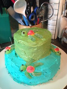 Turtle birthday cake for my baby boys first birthday