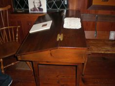 Dr. Jepsen's Harvard writing desk.  Very similiar to the one in Thoreau's cabin.