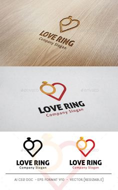 Love Ring Logo — Photoshop PSD #corporate #marriage • Available here → https://graphicriver.net/item/love-ring-logo/11128287?ref=pxcr