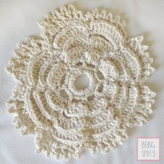 Free-Tea Rose Crochet Dishcloth Pattern - Home - beingspiffy