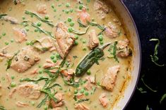 Thai Curry Salmon - easy, quick dinner served w/ rice or rice noodles.