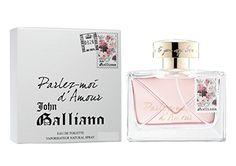 Parlez-Moi d'Amour est construit sur les principes de Galliano, souligné l'extravagance et de la féminité, avec l'ambition de créer une odeur m