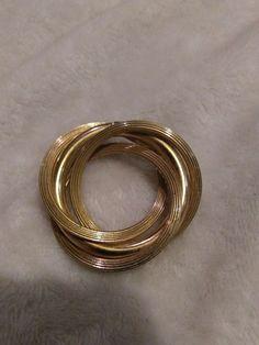 VINTAGE GOLD TONE LAYER PIN #26