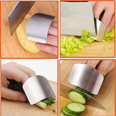 kitchen accessories  cooking tools safety guard stainless steel protect finger hand not to hurt cut gadgets