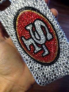MADE TO ORDER sf San Francisco 49ers bling crystal case iphone galaxy iPad on Etsy, $50.00