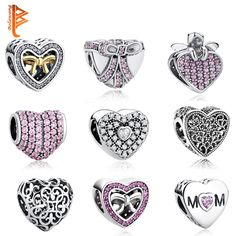 Pure 925 Sterling Silver Love Hearts European Crystal Charms Beads Fit Pandora Bracelet Necklace Pendant DIY Original Jewelry //Price: $10.00 & FREE Shipping // Get it here ---> http://bestofnecklace.com/pure-925-sterling-silver-love-hearts-european-crystal-charms-beads-fit-pandora-bracelet-necklace-pendant-diy-original-jewelry/    #best_of_Necklace