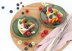 Food Inspiration, Panna Cotta, Ethnic Recipes, Watermelon Pizza, Thinking About You, Kitchens