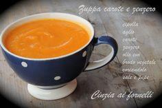 Cinzia ai fornelli: Zuppa di carote e zenzero Bimby Mugs, Cooking, Tableware, Blog, Dinnerware, Tumbler, Kochen, Dishes, Blogging