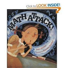 Back to school lesson :) Math Attack! - a good book for discussing math anxiety and what to do about it. Math Literature, Math Books, Children's Books, Library Books, Library Ideas, Teaching Multiplication, Teaching Math, Teaching Ideas, Maths