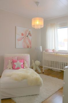 How smart, a chaise in the nursery. You end up sleeping in there anyway for the first few months!
