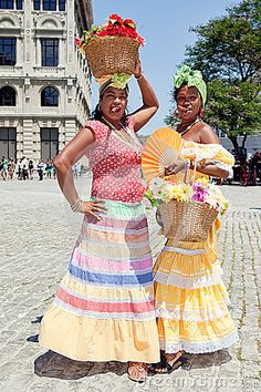 Cuban Women With Traditional Costums Editorial Stock Image - Image ...