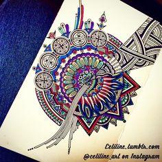 MESSY MIND - #zentangle #doodle #drawing #moleskine #illustration #sketchbook #artwork #mandala #artpiece #sketching #sketches #notebook #zendoodle #creative #ink #doodling #artstag #pattern #sketchpad #pencil #doodleart #zenart #zendoodle #zentangleart #mandalaart #colors (à follow me @celiline_art for more :))