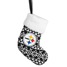 Pittsburgh Steelers Official NFL Holiday Christmas Ornament Stocking Knit by Forever Collectibles 492110 *** Continue to the product at the image link.