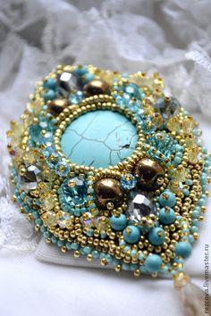 """Handmade brooches. Fair Masters - handmade brooch """"Ajanta"""". Handmade."""