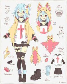 anime, anime girl, and kawaii image Manga Drawing, Manga Art, Anime Art, Character Concept, Character Art, Concept Art, Anime Outfits, Mangaka Anime, Anime Pokemon