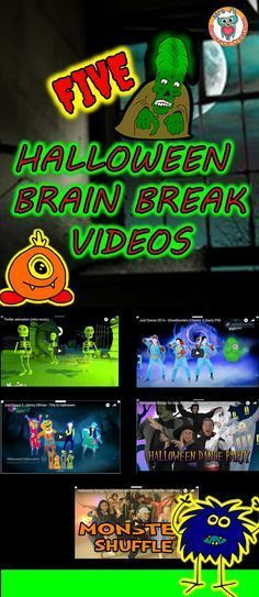 Check out these five fun brain breaks to use in the classroom around Halloween! Halloween Math, Halloween Activities, Holiday Activities, Halloween Themes, Halloween Songs, Halloween Pictures, Funny Halloween, Halloween Stuff, Halloween Crafts