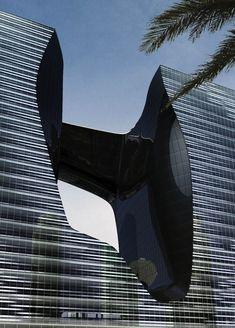 """""""Opus"""" de Zaha #Hadid, nouveau bâtiment de bureaux et un hôtel prévu pour 2016 à Dubaï #Architecture"""