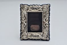 Solid Silver Photo Frame in Victorian Antique Style, R.Carr Ltd, Sheffield, 1997