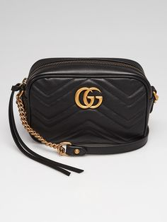 e8baa24f828b Gucci Black Quilted Leather Marmont Mini Camera Bag