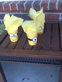 Hey, I found this really awesome Etsy listing at https://www.etsy.com/listing/163718142/yellow-minion-party-favor-cups-birthday