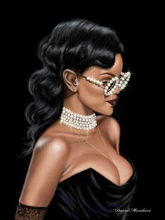 Rihanna In Vivienne-Westwood at Victoria's-Secret-Fashion-Show 2012. #digitaldrawing by David Mandeiro Illustrations