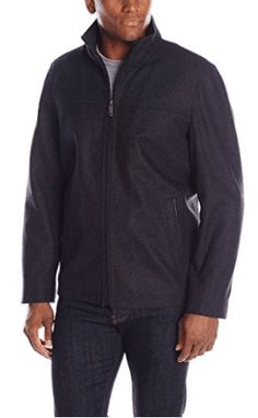 online shopping for Perry Ellis Men's Wool-Blend Zip-Front Open-Bottom Jacket from top store. See new offer for Perry Ellis Men's Wool-Blend Zip-Front Open-Bottom Jacket Fur Collar Jacket, Jacket Men, Mens Wool Coats, Flight Bomber Jacket, Men's Coats And Jackets, Wool Jackets, Athletic Fashion, Jackets Online, Mens Clothing Styles