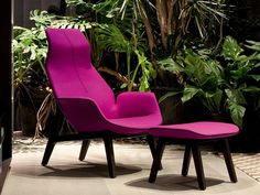 Fabric armchair with headrest VENTURA LOUNGE | Armchair - Poliform