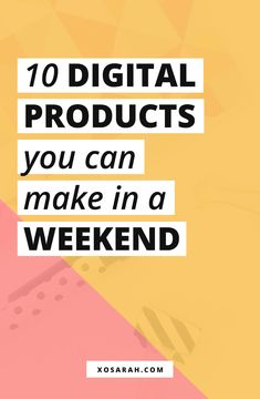 Ready to create a digital product and earn passive income but feeling intimidated by the idea of an online course or an ebook? Here are 10 ideas for infoproducts you can create in a weekend and start making money online! by xosarahmorgan Read Marketing Online, Marketing Digital, Affiliate Marketing, Internet Marketing, Media Marketing, Marketing Products, Business Marketing, Marketing Strategies, Content Marketing