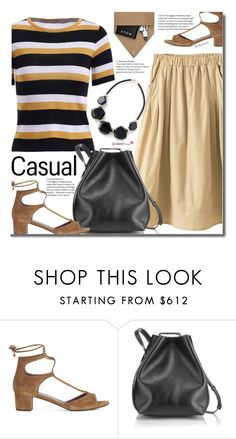 """""""Casual"""" by beebeely-look ❤ liked on Polyvore featuring Tabitha Simmons, 3.1 Phillip Lim, STOW, stripes, CasualChic, sammydress and casuallook"""