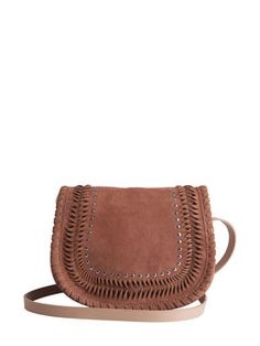 SUEDE CROSS OVER BAG, Baked Clay