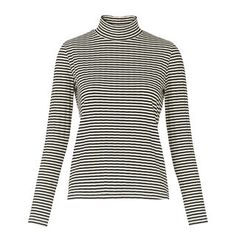 Ribbed High Neck, in Black/Multi on Whistles