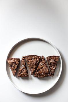 Dark Chocolate Brownies with Pecans & Sea Salt