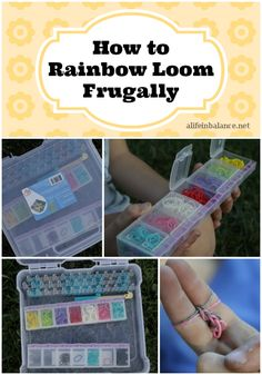 How to Rainbow Loom Frugally. Pattern links at the bottom.