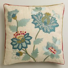 Floral Fantasy Throw Pillow | World Market