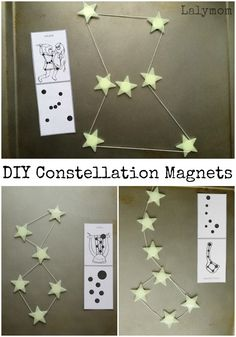 A fun, hands-on way to study the stars: DIY constellation magnets.