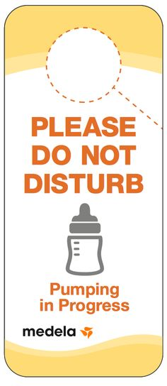 Do not disturb free printable sign for pumping moms