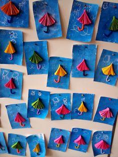 Rain Crafts, Halloween Crafts For Kids, Craft Projects For Kids, Fun Crafts For Kids, Craft Stick Crafts, Art For Kids, Paper Crafts, Kindergarten Art Lessons, Kindergarten Crafts