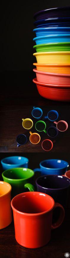 Fiestaware dishes, a rainbow in my kitchen