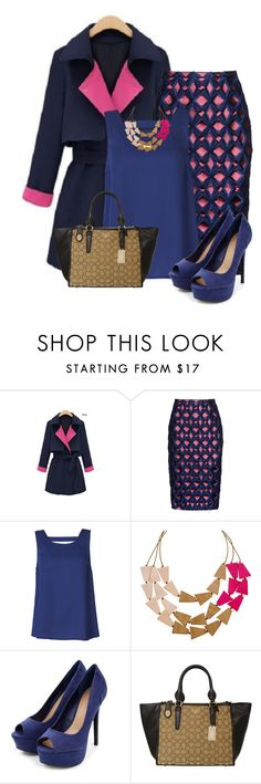 """""""This Trench Goes To The Office"""" by kswirsding ❤ liked on Polyvore featuring Burberry, ONLY and Coach"""