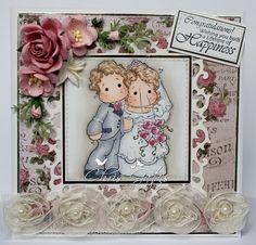 Chris's Cards: Magnolia Special Moments - Vintage Bridal Couple