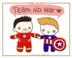 Team No War! (I need a t-shirt of this doodle to wear to the premiere!)   Video here: http://mintmintdoodles.tumblr.com/post/140314362577  [Doodle Master List]