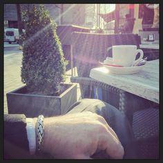 #myview Kopje koffie op het terras in het laatste restje zon... ;-) #happy