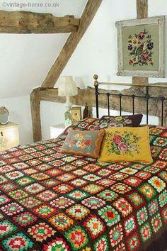 granny square color combinations crochet